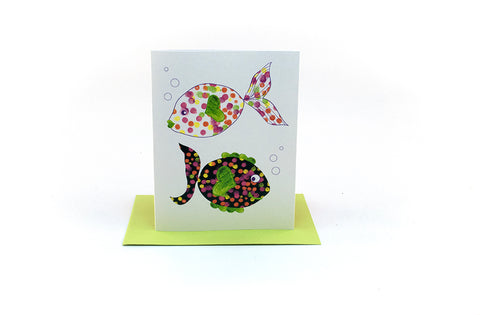 fish friends greeting card