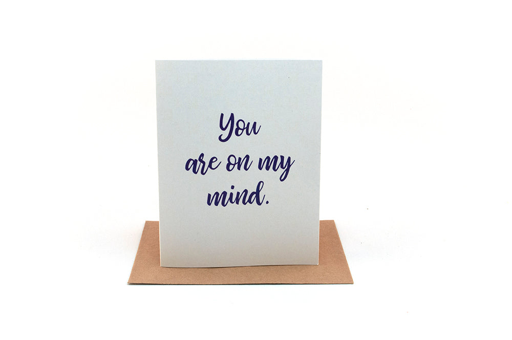 you are on my mind greeting card