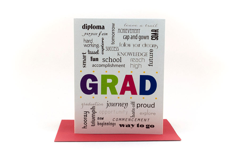 grad congratulations greeting card