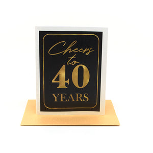 cheers black + gold greeting card
