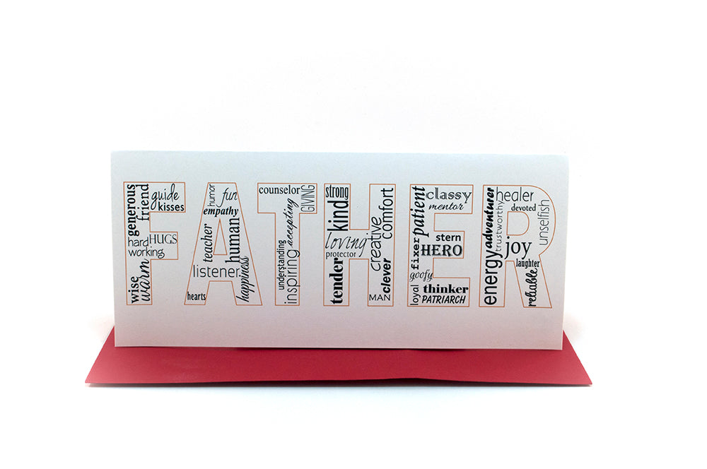 father words greeting card