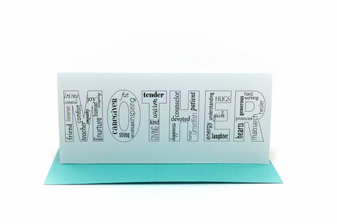 mother words greeting card
