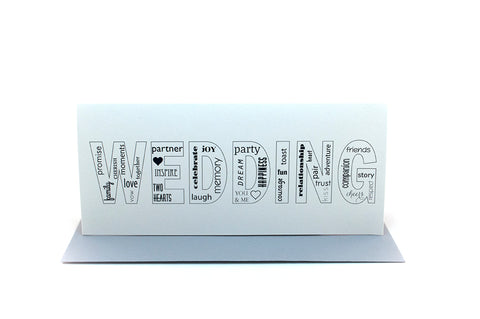 wedding words greeting card