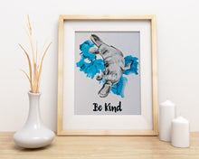 Load image into Gallery viewer, animal art print | be kind platypus