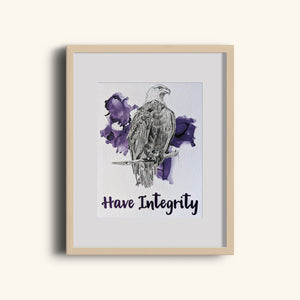 animal art print | have integrity eagle