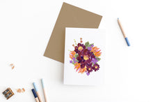 Load image into Gallery viewer, floral bouquet greeting card