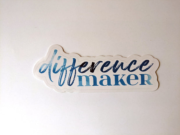 typography stickers   difference maker 1