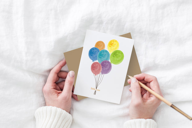 little one balloons baby card 1
