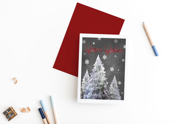 warm wishes holiday card 1