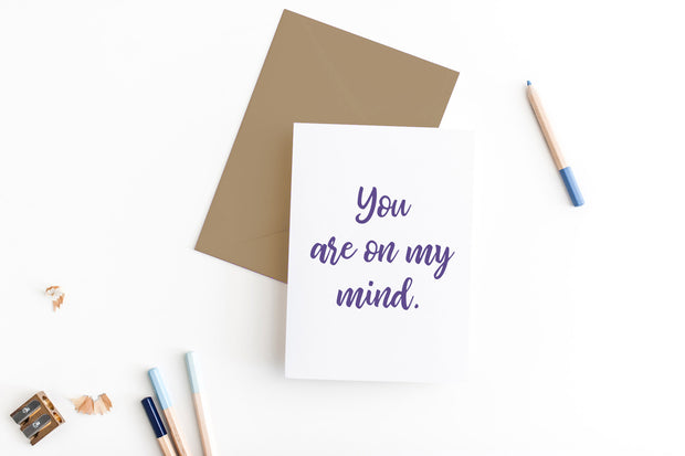 you are on my mind greeting card 1