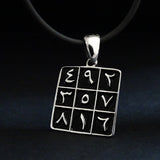 Arabic Luck Numbers Necklace 925 Silver Amulet Abjad Pendant, Islamic Magic Square Necklace Eid Gift