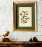 "Rumi Poem Wall Art ""Come, come, whoever you are"" Shia Wall Art Green, Farsi Calligraphy Vertical Painting"