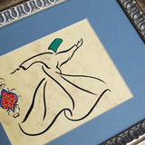Tabletop Framed Art Whirling Dervish, ORIGINAL Islamic Painting, Desktop Gift, Islamic Gift, Sufi Art, Turkish Art, Islamic Home Decor - islamicartstore.com