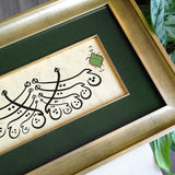 "Persian Calligraphy ""Heech"" FRAMED ORIGINAL Islamic Painting, Persian Home Decor, Sufi Wall Art, Islamic Gift Calligraphy Wall Hanging - islamicartstore.com"