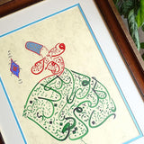 Islamic Decoration Art Persian Calligraphy Painting, Whirling Dervish Calligraphy, Framed Islamic Art, Sufi Wall Art, Muslim Home Decor - islamicartstore.com