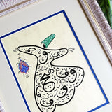 Persian Calligraphy Painting Whirling Dervish, Spiritual Art, Islamic Home Decor, Islamic Decorations, Sufi Painting, Gift for Muslim - islamicartstore.com
