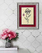"ISLAMIC ARABESQUE WALL ART * This artwork is the original hand-painting! * Materials used: inks and drawing paper * Framed format: 14"" x 17"" (35cm x 43cm) * Framed in the new frame with glass * The painting will be shipped with the frame as shown on the photo  The calligraphy presented depicts in the composition verse from Surah Hud [11:90] - Al-Qur'an al-Kareem: ""And ask forgiveness of your Lord and then repent to Him. Indeed, my Lord is Merciful and Affectionate."""