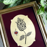 Islamic Arabesque Art Quran Surah Al-Qalam Vintage Style Wall Decor, Arabic Calligraphy Painting, Muslim Gifts, Islamic Wall Art Gift