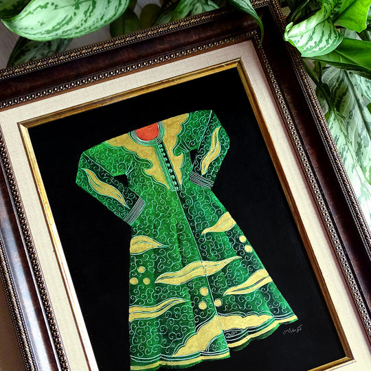 Kaftan Turkish Art, ORIGINAL Islamic Painting Framed, Miniature Art, Islamic Art, Islamic Home Decor, Vintage Style Wall Decor, Ottoman Art