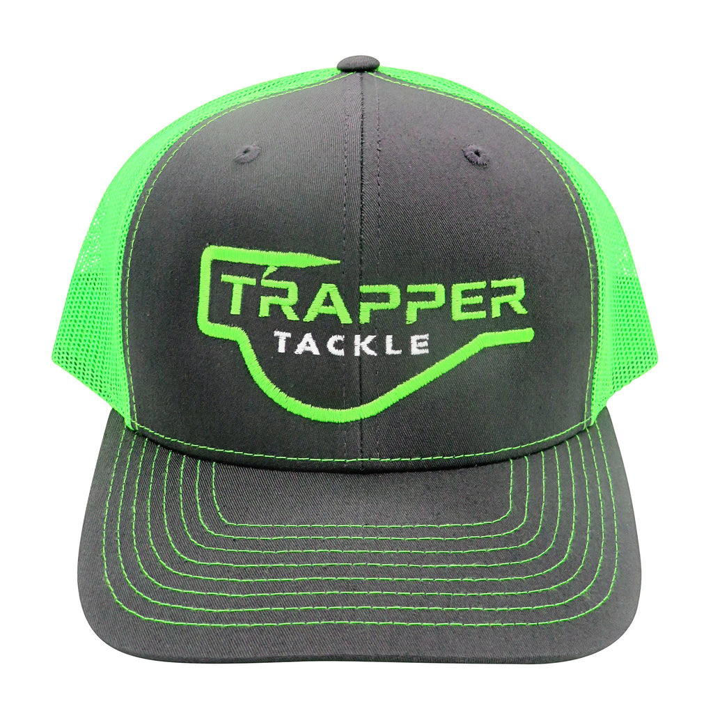 Richardson Classic Trucker Hat Hat Trapper Tackle LLC Charcoal / Green Mesh
