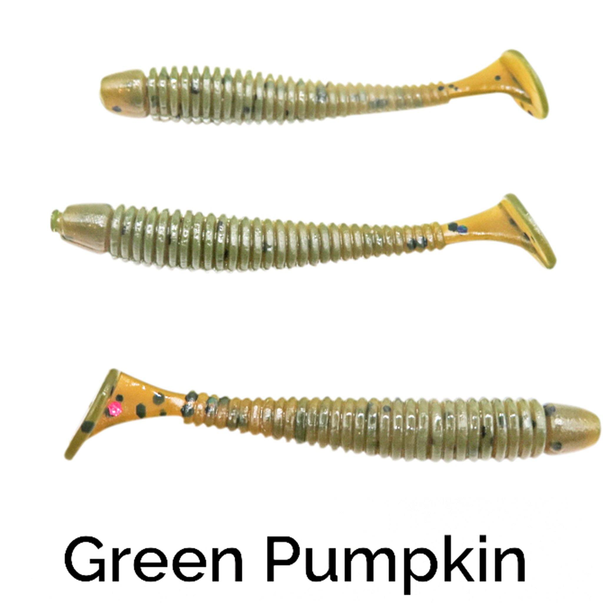 "Zee Bait Micro XSwimmer 1.75"" Related Trapper Tackle LLC Green Pumpkin"