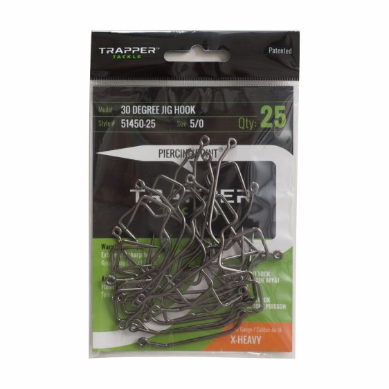 30 Degree Jig Hook Single Hooks TrapperTackle