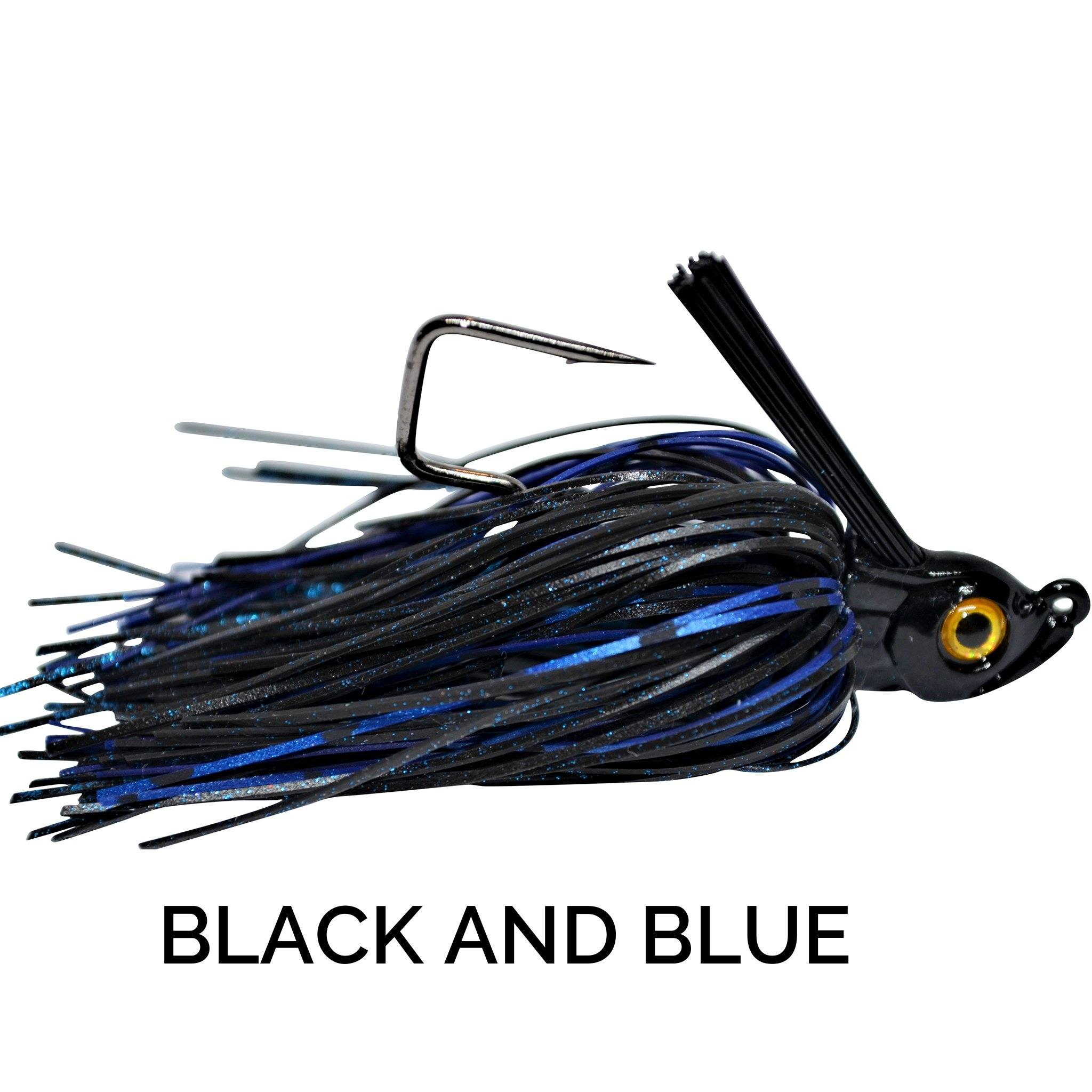 Trapper Tackle Freestyle Swim Jig Trapper Tackle LLC 3/8 oz Black and Blue
