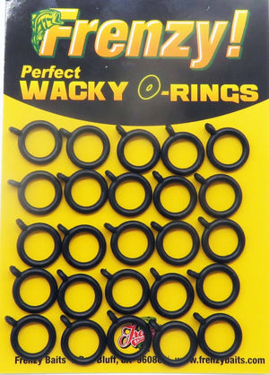 "Frenzy Baits Perfect Wacky O-Rings and Wacky Saddles Related Frenzy Baits Perfect O-Ring Refill 5"" Senko"