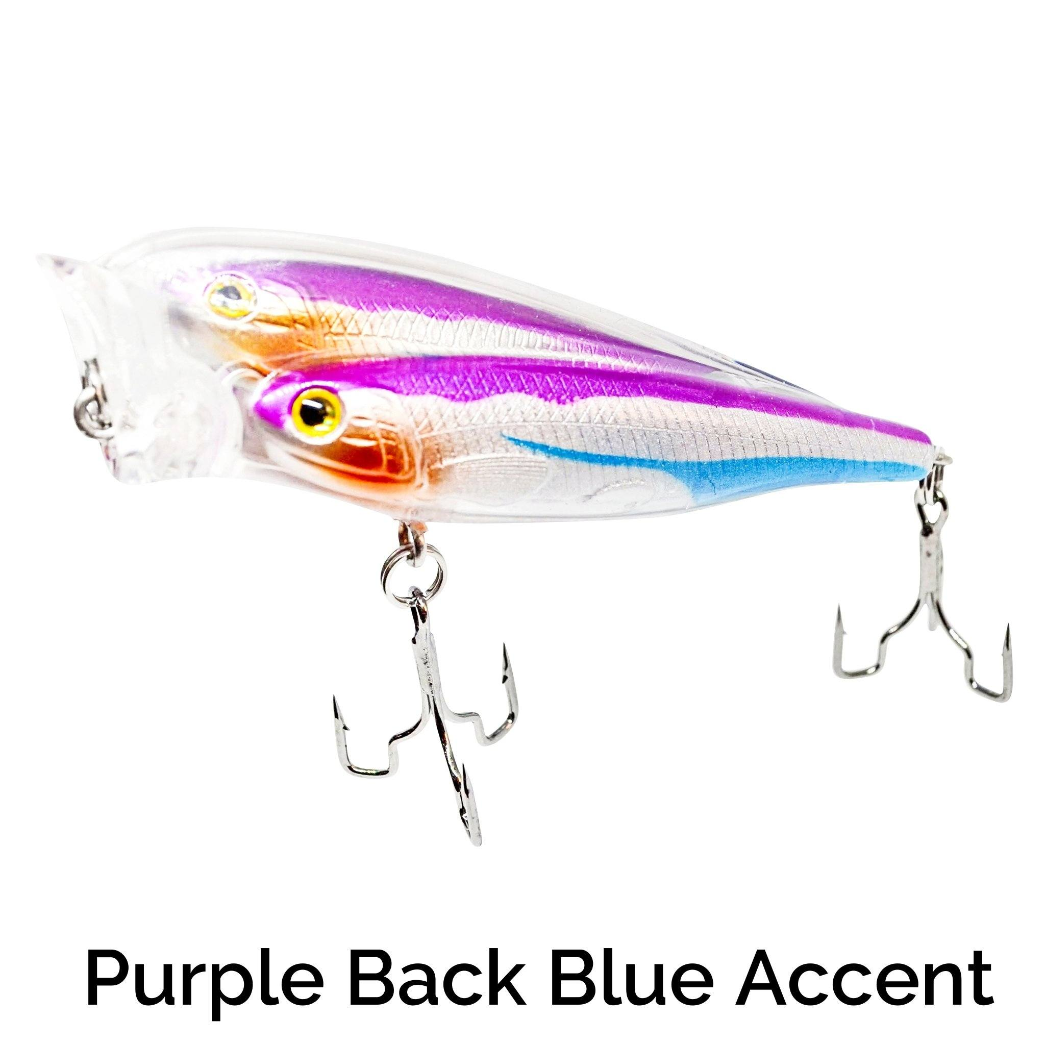 Schooling Trap-R Related Trapper Tackle LLC Purple Back Blue Accent