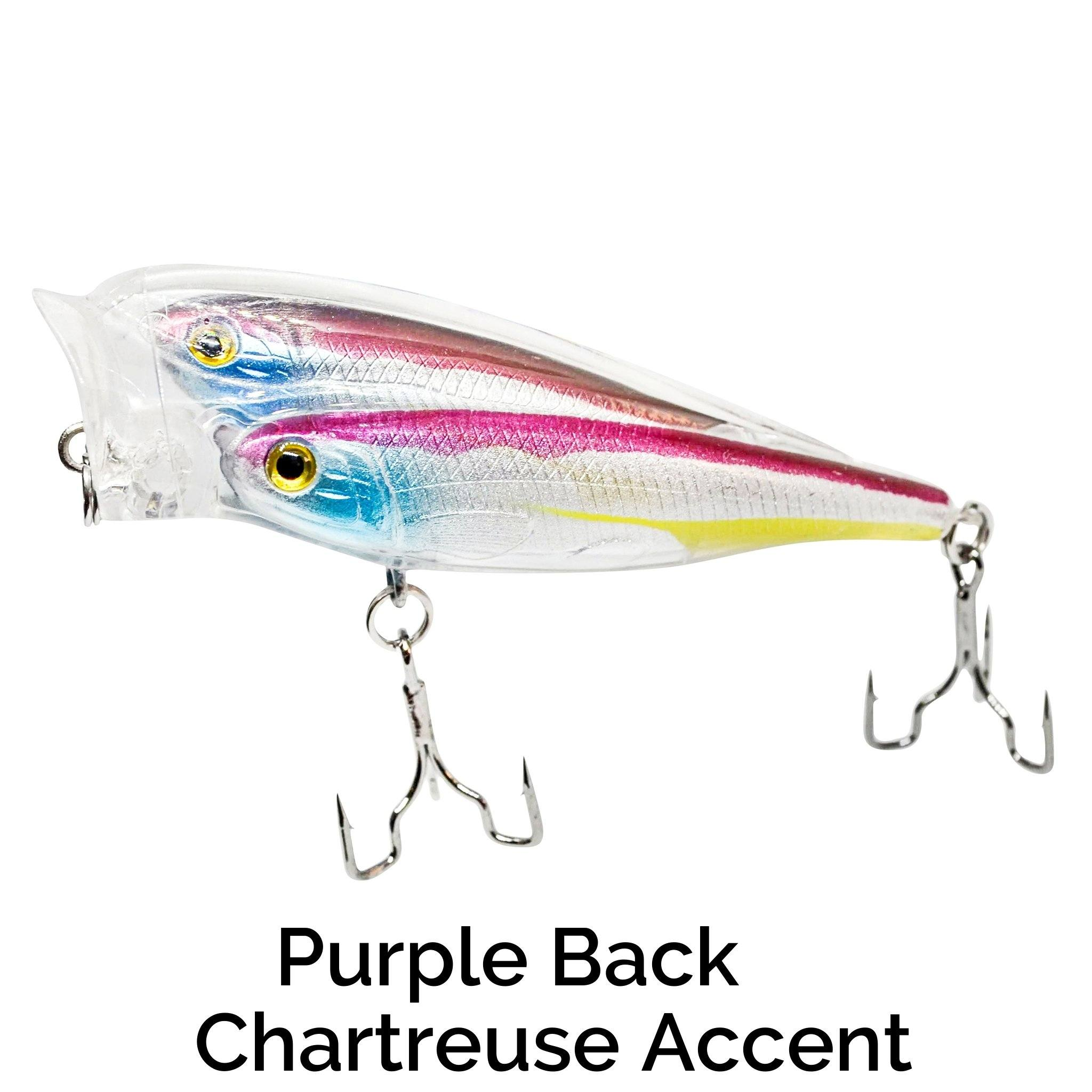 Schooling Trap-R Related Trapper Tackle LLC Purple Back Chartreuse Accent