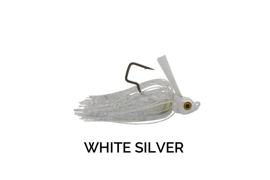 Trapper Tackle Freestyle Swim Jig Trapper Tackle LLC 3/8 oz White Silver Holographic