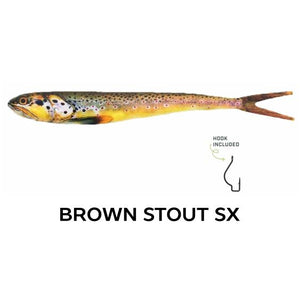 "Wounded Rattle ""SX"" by Nextgen with Trapper Tackle Heavy Cover Offset Wide Gap Hook (2 Baits, 1 Hook) TrapperTackle Brown Trout SX"