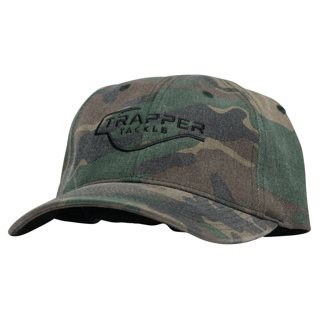 Garment Washed Camo Baseball Hat - Flexfit