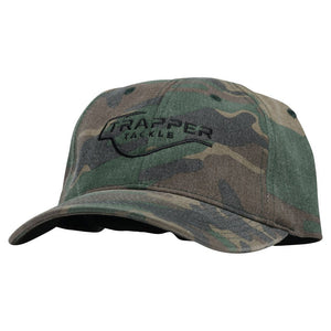 Garment Washed Camo Baseball Hat - Flexfit Hat TrapperTackle
