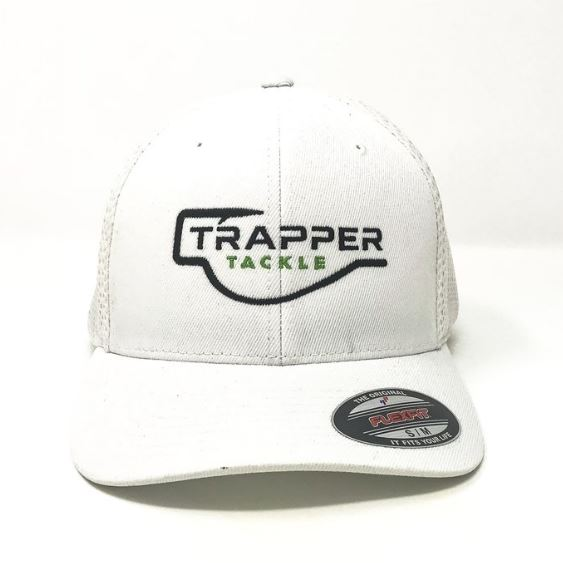Flexfit Ultra FibreMesh Hat Hat TrapperTackle Small/Medium White