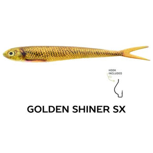 "Wounded Rattle ""SX"" by Nextgen with Trapper Tackle Heavy Cover Offset Wide Gap Hook (2 Baits, 1 Hook) TrapperTackle Golden Shiner SX"