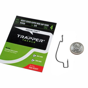 Heavy Cover Offset Super Wide Gap Hook TrapperTackle