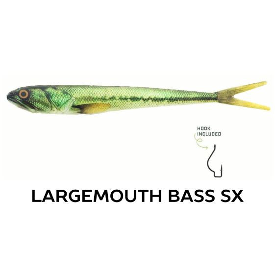 "Wounded Rattle ""SX"" by Nextgen with Trapper Tackle Heavy Cover Offset Wide Gap Hook (2 Baits, 1 Hook) TrapperTackle Largemouth Bass SX"