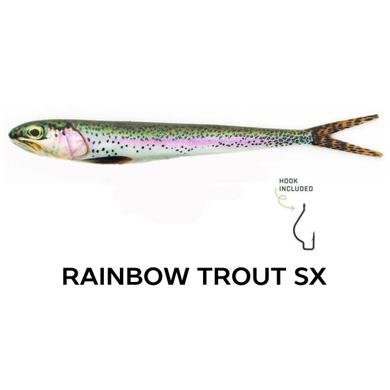 "Wounded Rattle ""SX"" by Nextgen with Trapper Tackle Heavy Cover Offset Wide Gap Hook (2 Baits, 1 Hook) TrapperTackle Rainbow Trout SX"