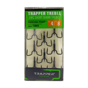 EWG Short Shank Treble Related Trapper Tackle LLC #4 8-Pack