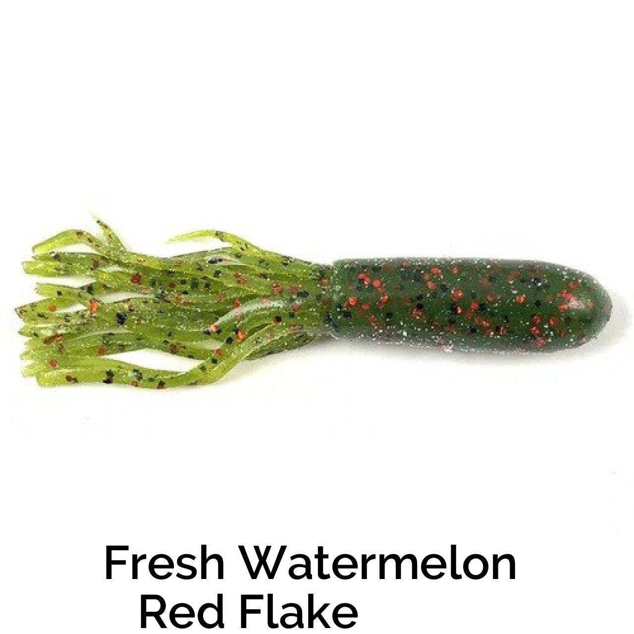 Zee Bait Tubes Related Trapper Tackle LLC Watermelon Red Flake