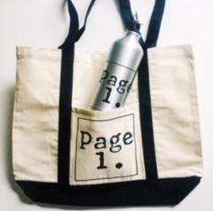 Page 1 Water Bottle and Tote