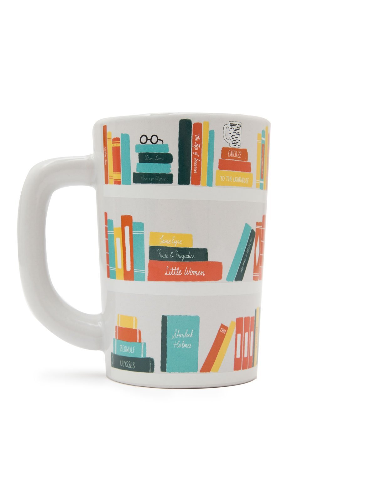 Out of Print Bookshelf Mug