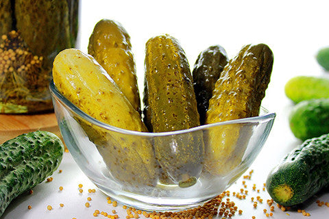 Polish pickled cucumbers