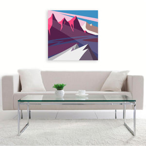 """Mountain Light"" By Phil Leith-Tetrault, Digital Print"
