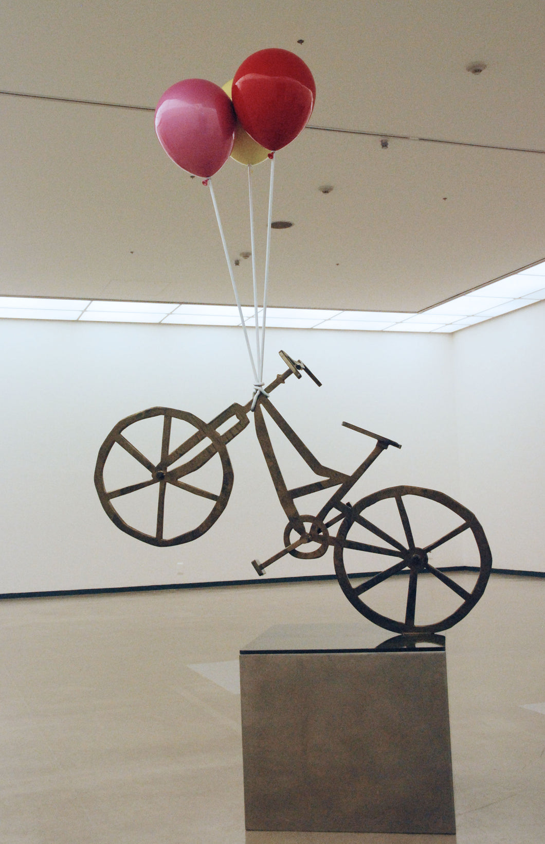 'Flying Bicycle' by Kang Ok Jeon, 2018, Stainless Steel