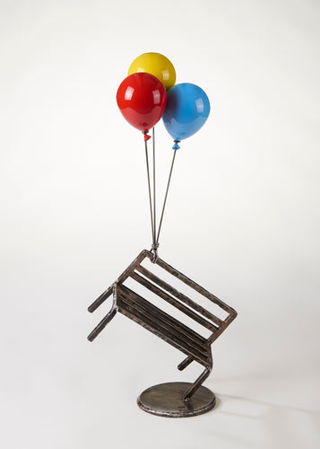 'Bench and Balloon' by Kang Ok Jeon, 2018, Stainless Steel