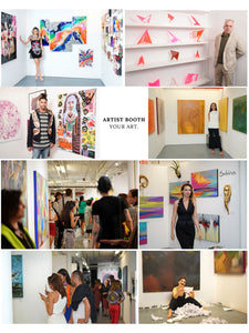 8X10 exhibitors booth - artist reception NYA TriBeCa New York- 900 deposit SS