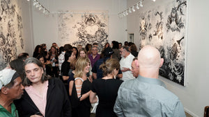 exhibitors Group Show 2 Paintings - artist reception TriBeCa New York 600  SS