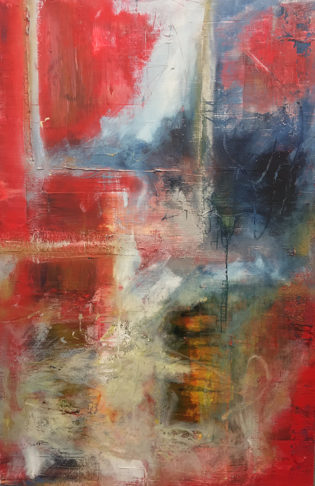 """Contemporary 104"" Original 80""X48"" Abstract by Shane Townley Arts"